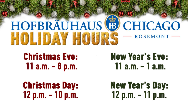 Holiday Hours at Hofbräuhaus | Hofbrauhaus Chicago